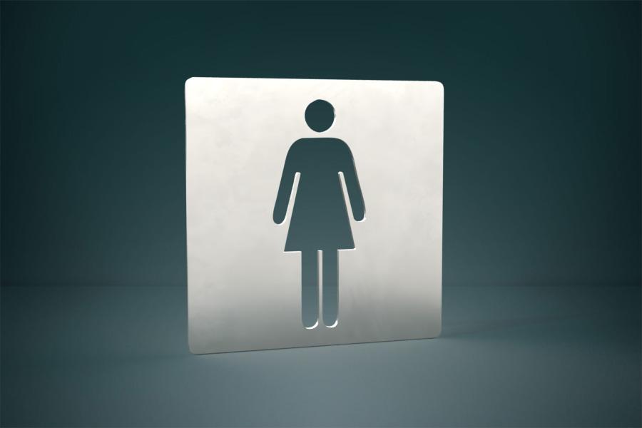 Piktogram toalety damskie