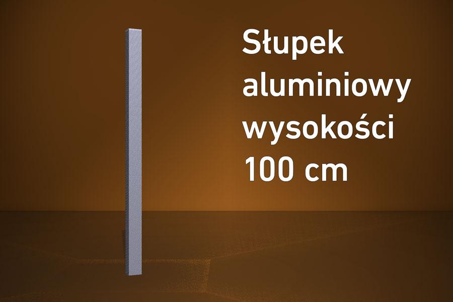 Słupek aluminiowy 100 cm