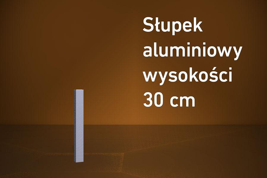 Słupek aluminiowy 30 cm