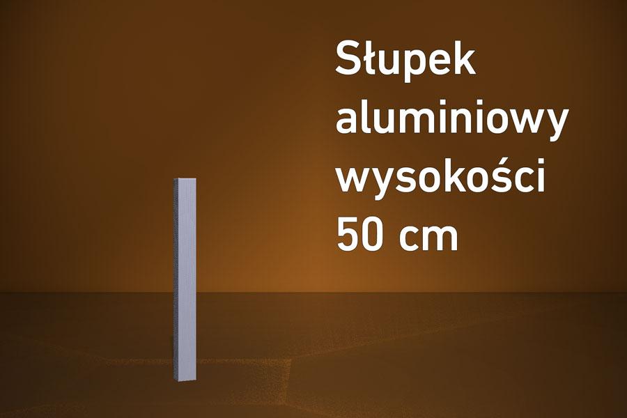 Słupek aluminiowy 50 cm