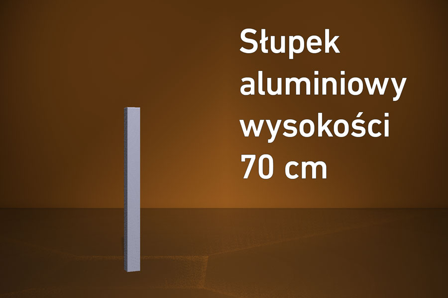 Słupek aluminiowy HD 70 cm