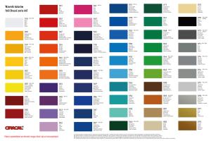 Wzornik kolorów folii Oracal 641
